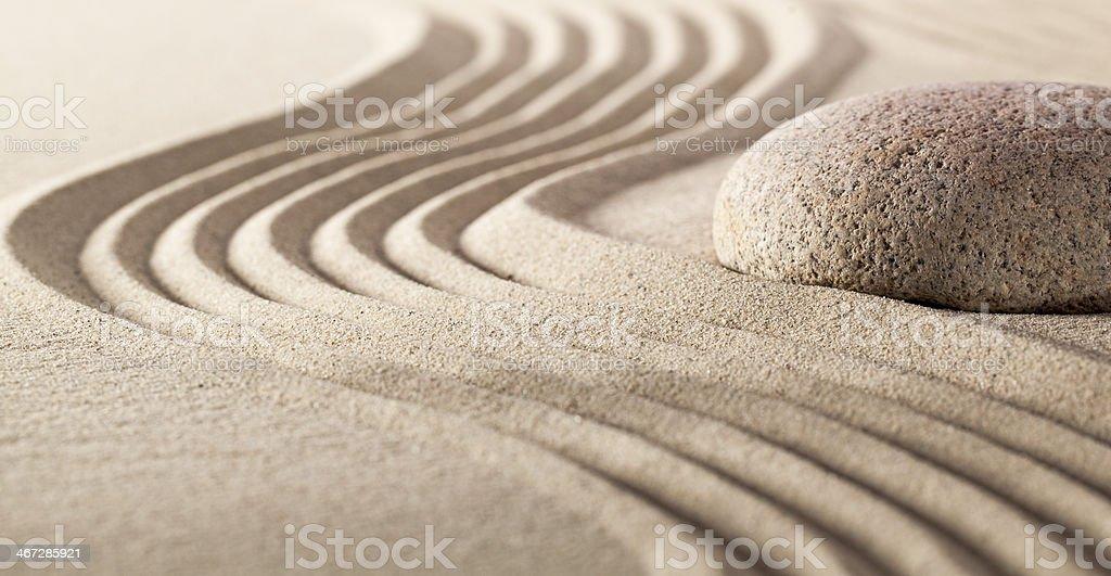 harmony stillness with pebble and sand stock photo