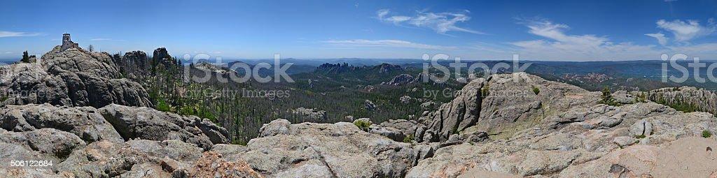Harney Peak Panorama stock photo
