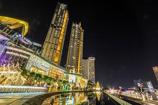 istock haroen Nakhon Road,Khlong San,Bangkok,Thailand on December 23,2019:ICONSIAM BANGKOK ILLUMINATION at River Park to celebrate Christmas and New Year Festival. 1197223379