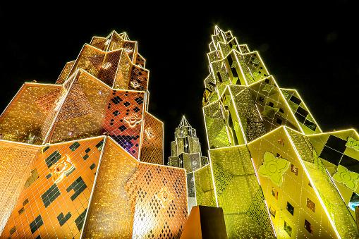 istock haroen Nakhon Road,Khlong San,Bangkok,Thailand on December 23,2019:ICONSIAM BANGKOK ILLUMINATION at River Park to celebrate Christmas and New Year Festival. 1197223389