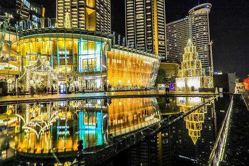 istock haroen Nakhon Road,Khlong San,Bangkok,Thailand on December 23,2019:ICONSIAM BANGKOK ILLUMINATION at River Park to celebrate Christmas and New Year Festival. 1197223399