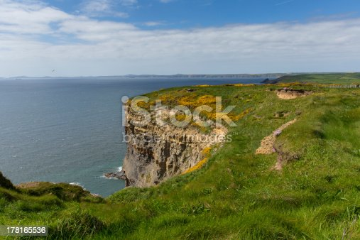 istock Haroldstone Chins from Wales Coast Path near Broad Haven 178165536
