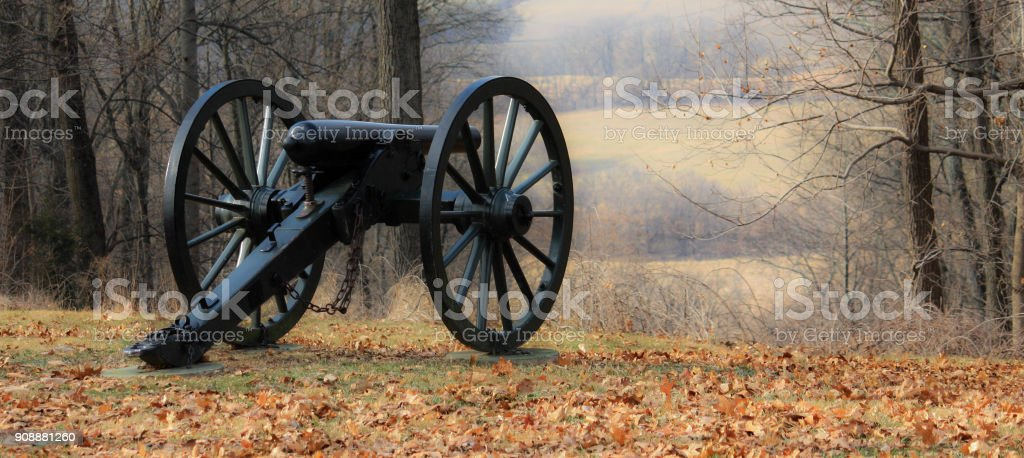 Harpers Ferry historic park cannon stock photo