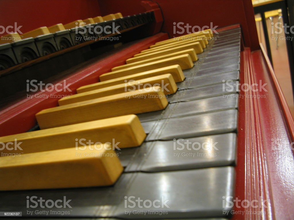 Harpsichord keys royalty-free stock photo