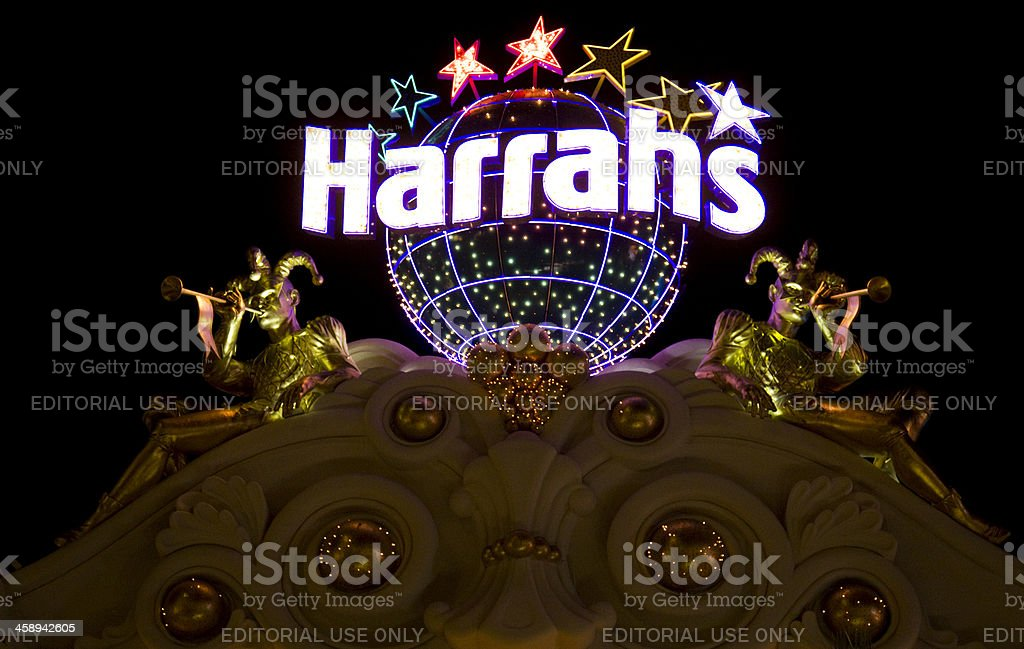 Harrah's Hotel and Casino Nighttime stock photo