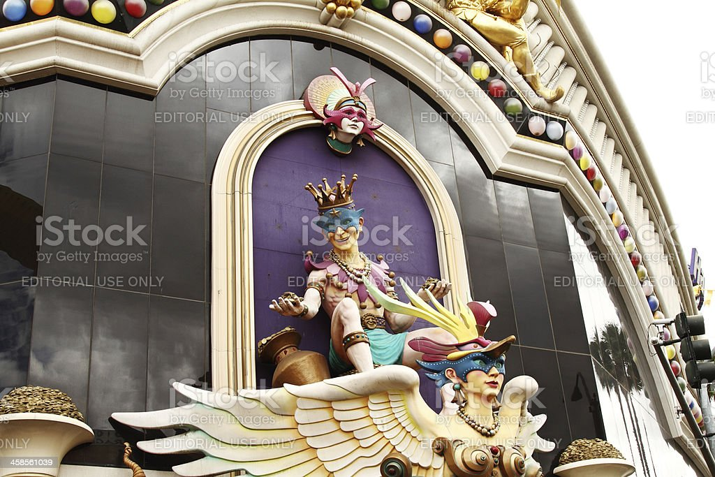 Harrahs Hotel and Casino on the Strip in Las Vegas stock photo