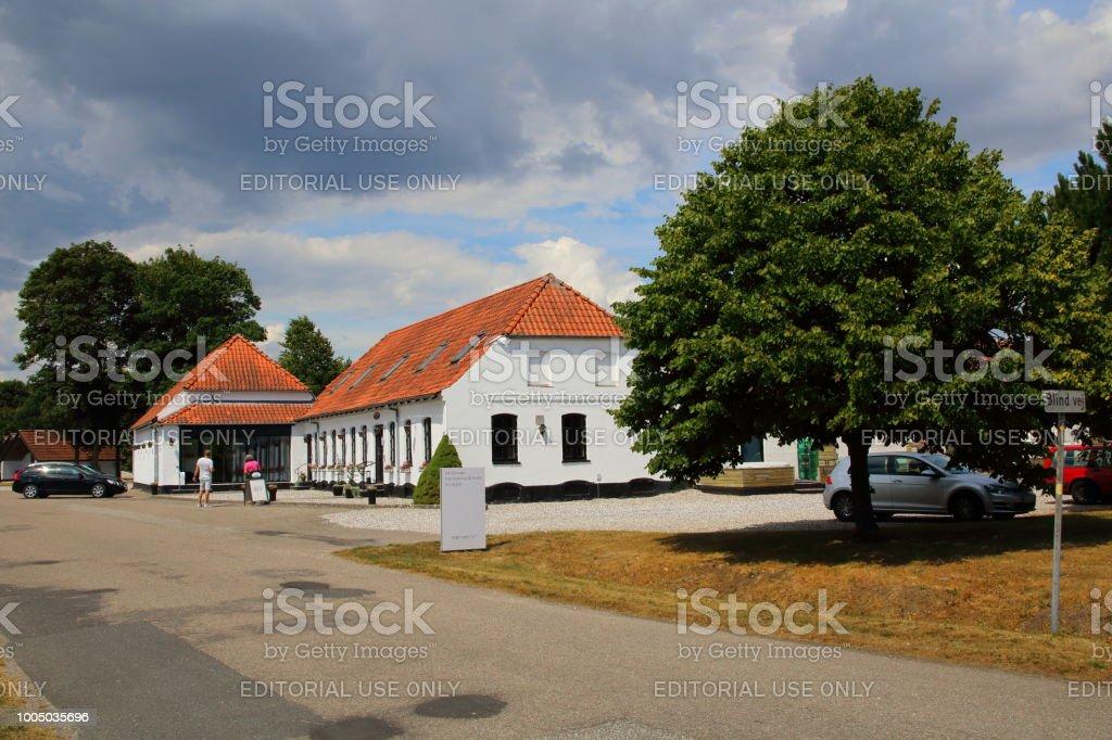 Harresoe Kro Inn Jutland, Denmark stock photo