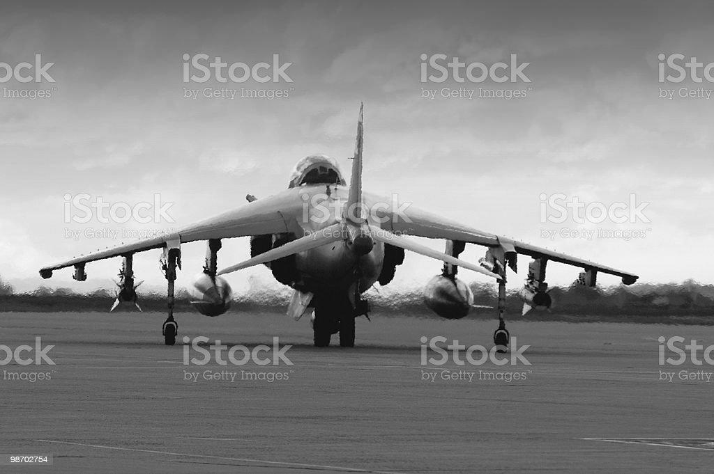 Harrier AV8B armed and dangerous royalty-free stock photo