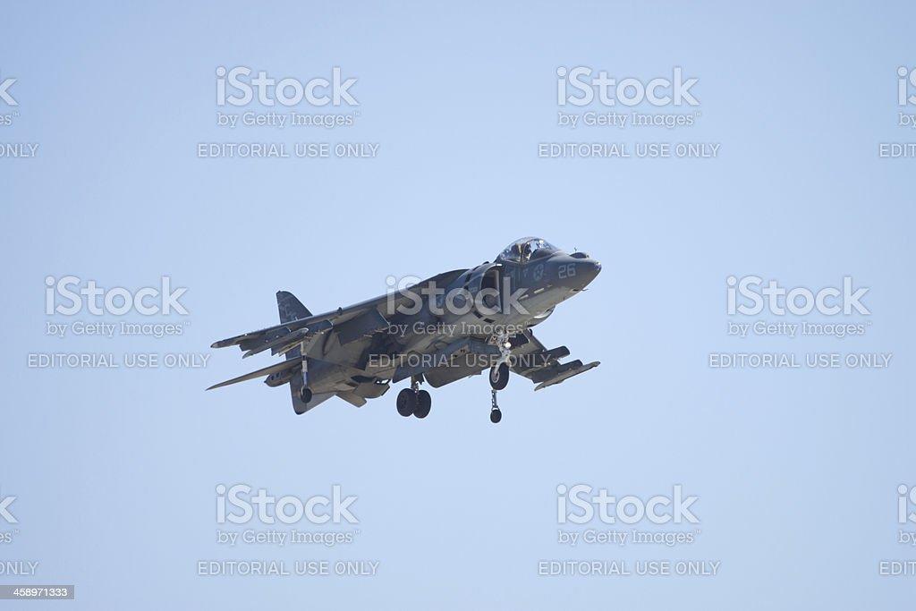 Harrier Jet In Flight stock photo