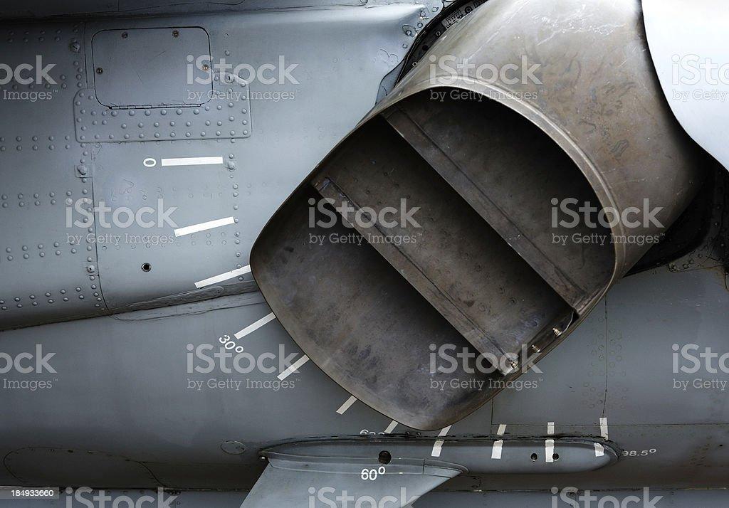 Harrier Jump Jet Nozzle royalty-free stock photo
