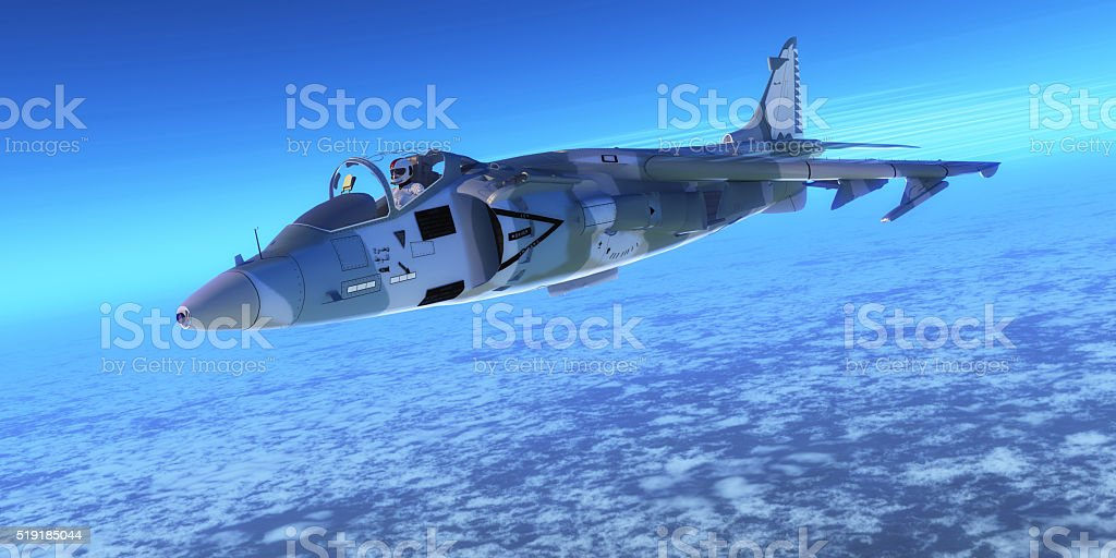 AV-8B Harrier ll Fighter Jet stock photo