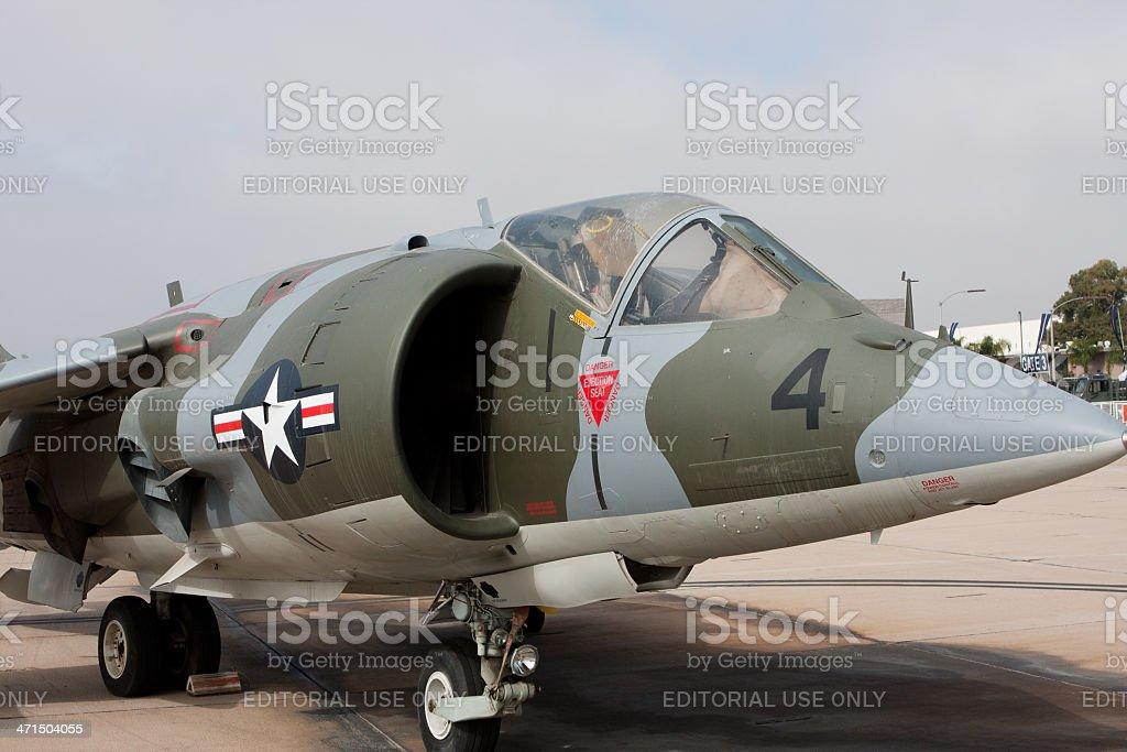 Harrier On Display stock photo