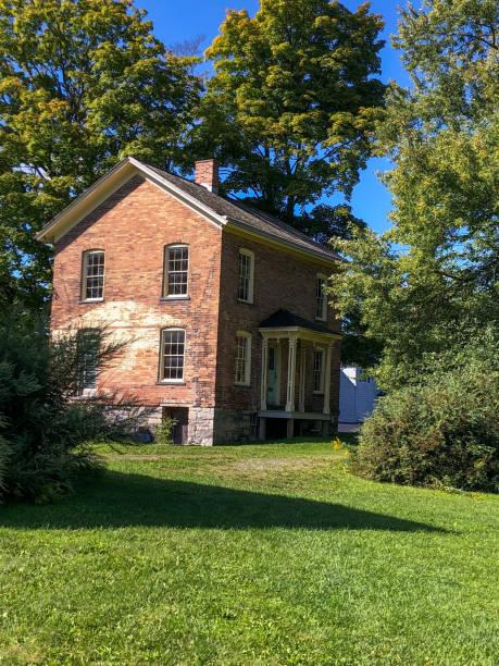 Harriet Tubmans brick home in Auburn NY stock photo