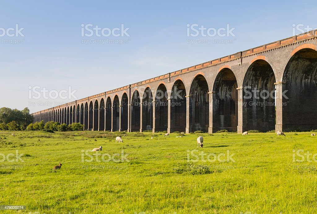 Harringworth Arches stock photo