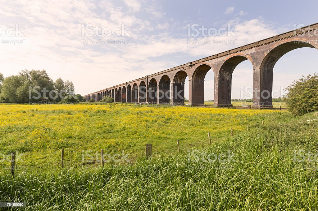 Harringworth Railway Viaduct stock photo