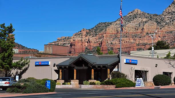 BMO Harris Bank in Sedona, AZ stock photo