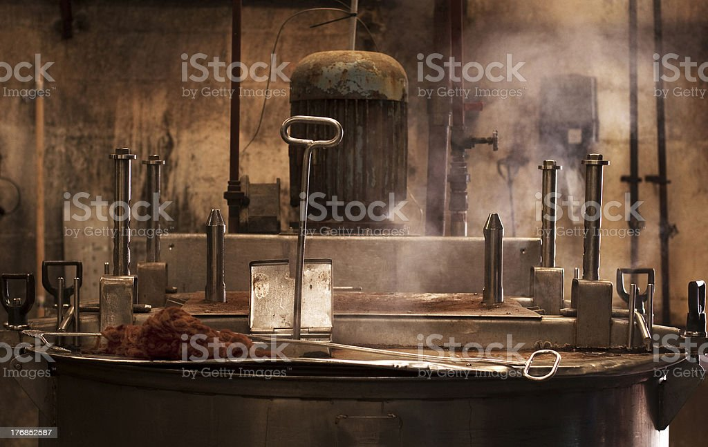 Harris Tweed Dye pot stock photo