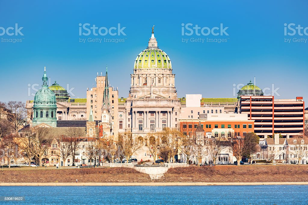 Harrisburg capitol building stock photo