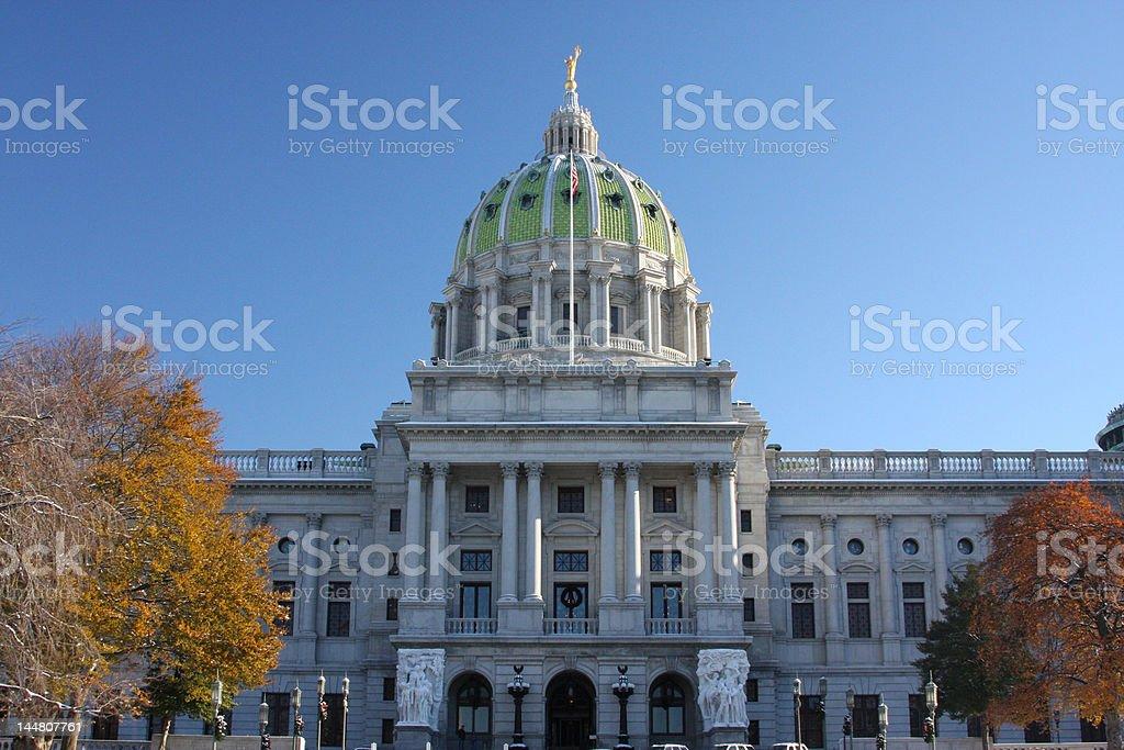 Harrisburg Capitol Building Winter stock photo
