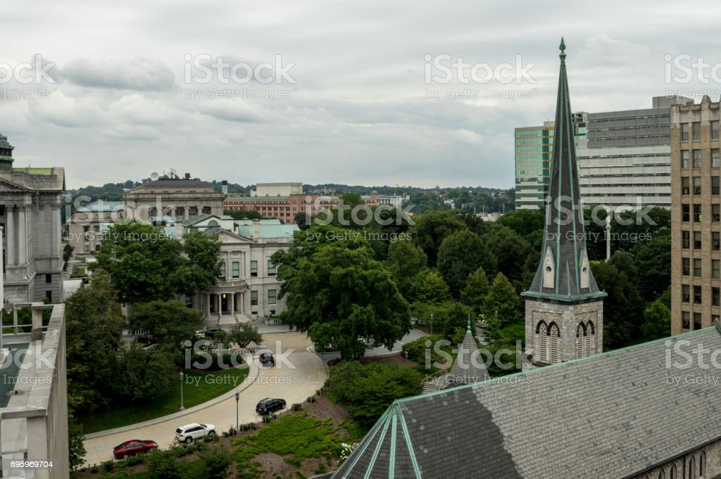 Harrisburg Cityscape in Pennsylvania stock photo