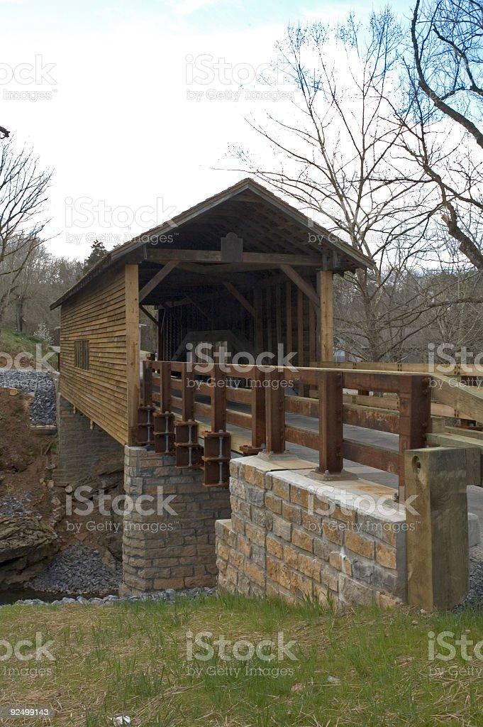 Harrisburg Covered Bridge, East Tennessee royalty-free stock photo