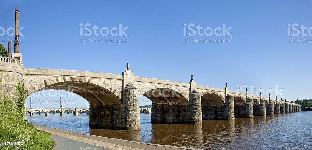 Harrisburg Market Street Bridge royalty-free stock photo