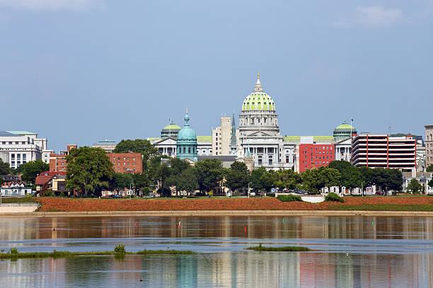 Harrisburg panorama stock photo