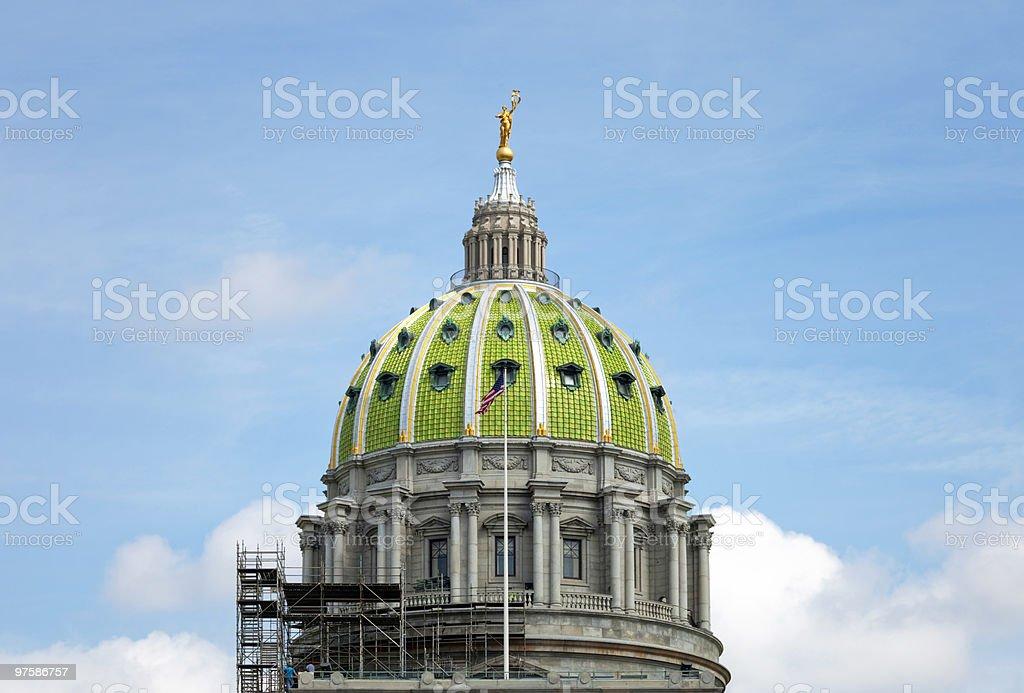 Harrisburg Pennsylvania Capitol Building Construction royalty-free stock photo