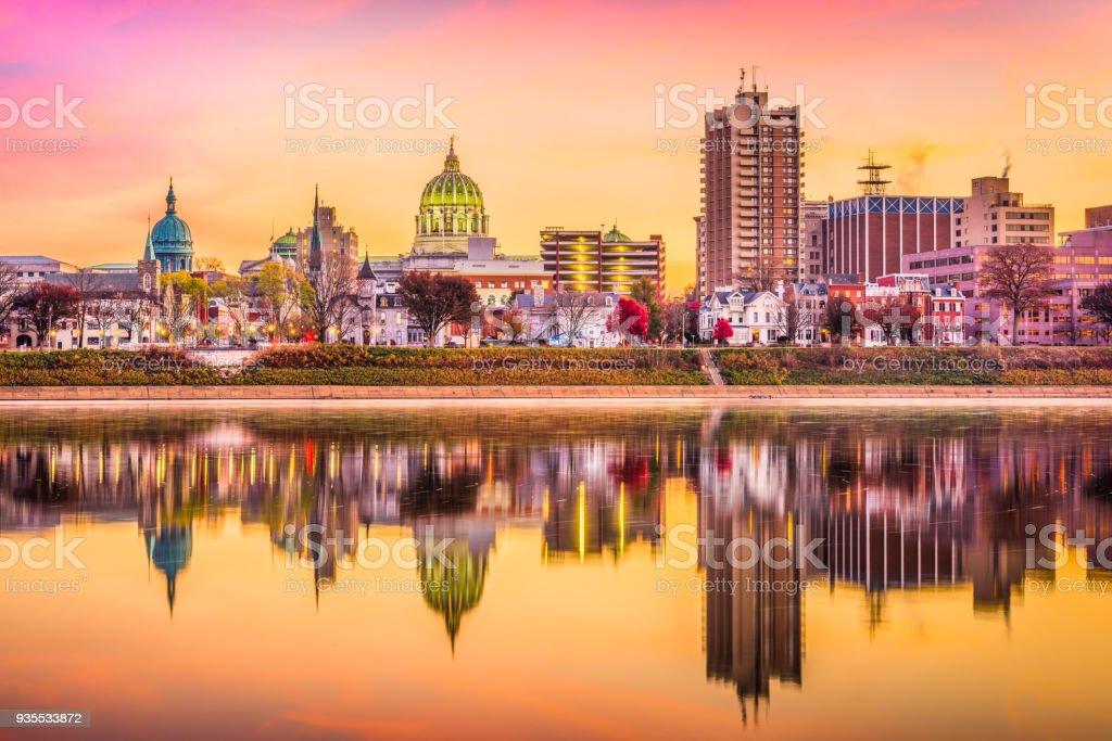 Harrisburg, Pennsylvania, USA Skyline stock photo