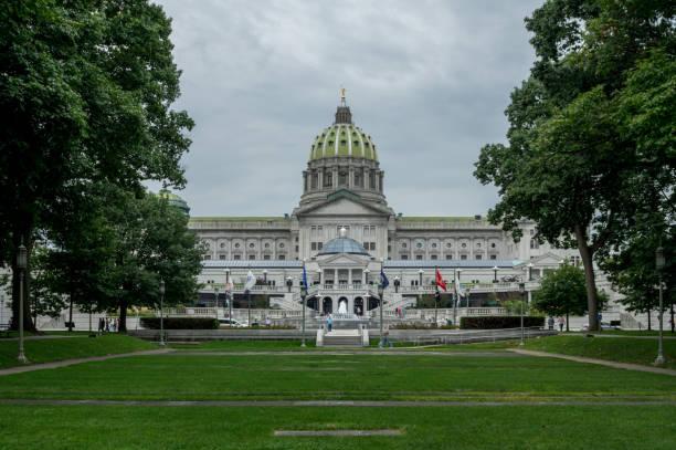 Harrisburg-Edificio del Capitolio del Estado - foto de stock