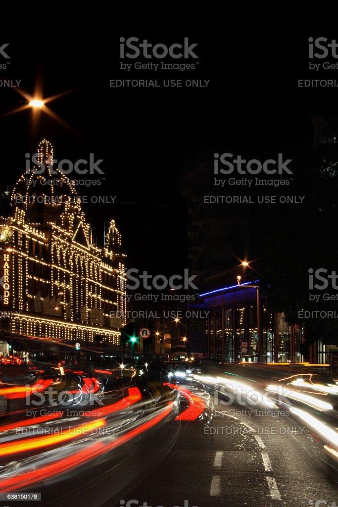 Harrods by Night - London stock photo