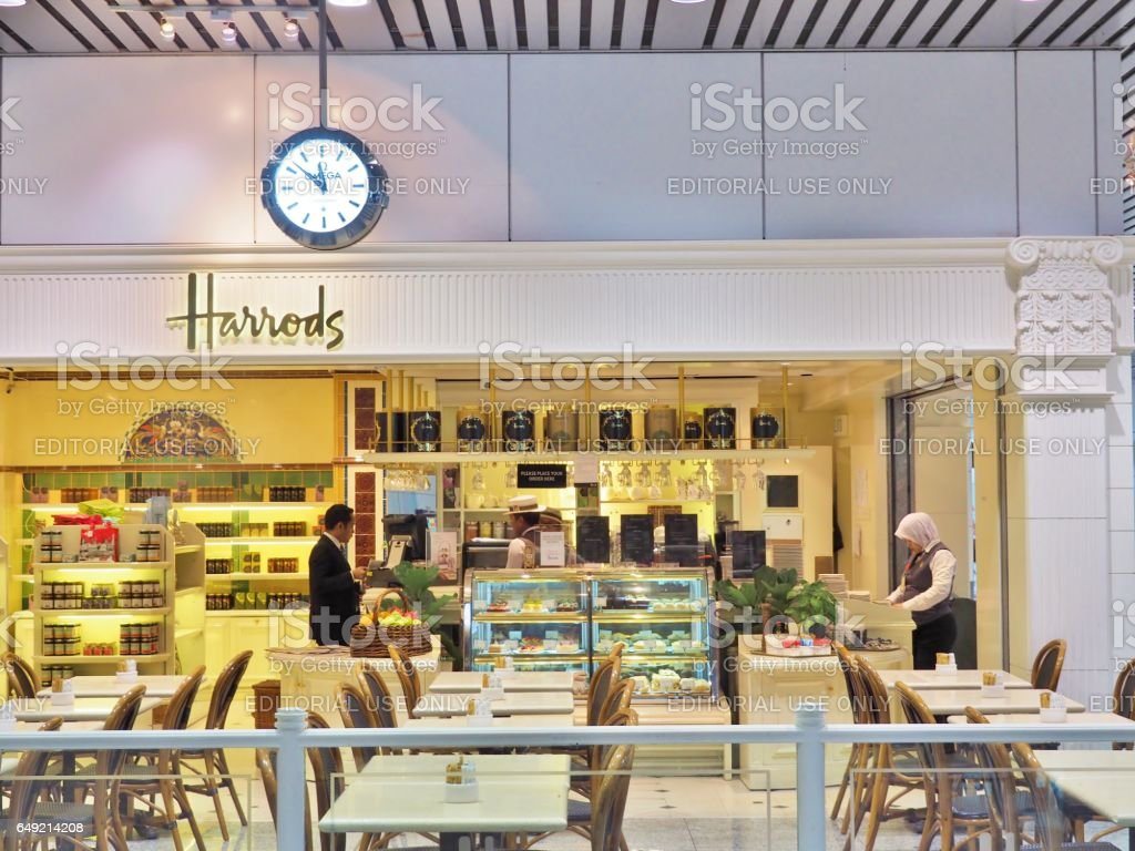 Harrods cafe & restaurant stock photo