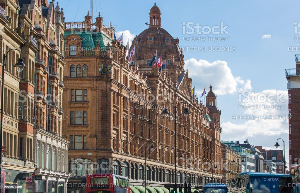 Harrods department store in Knightsbridge, London stock photo
