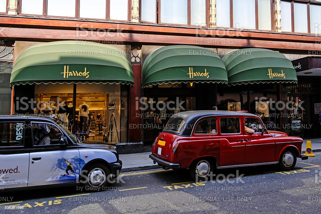 Harrods Department Store in London stock photo