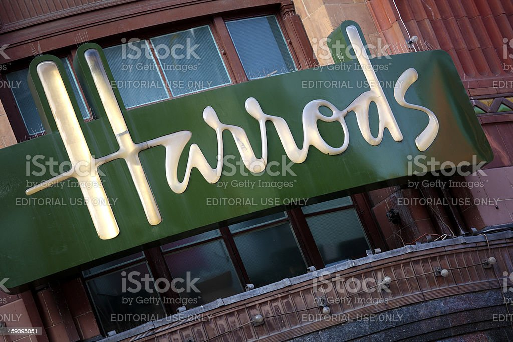 Harrods Department Store, Knightsbridge, London stock photo