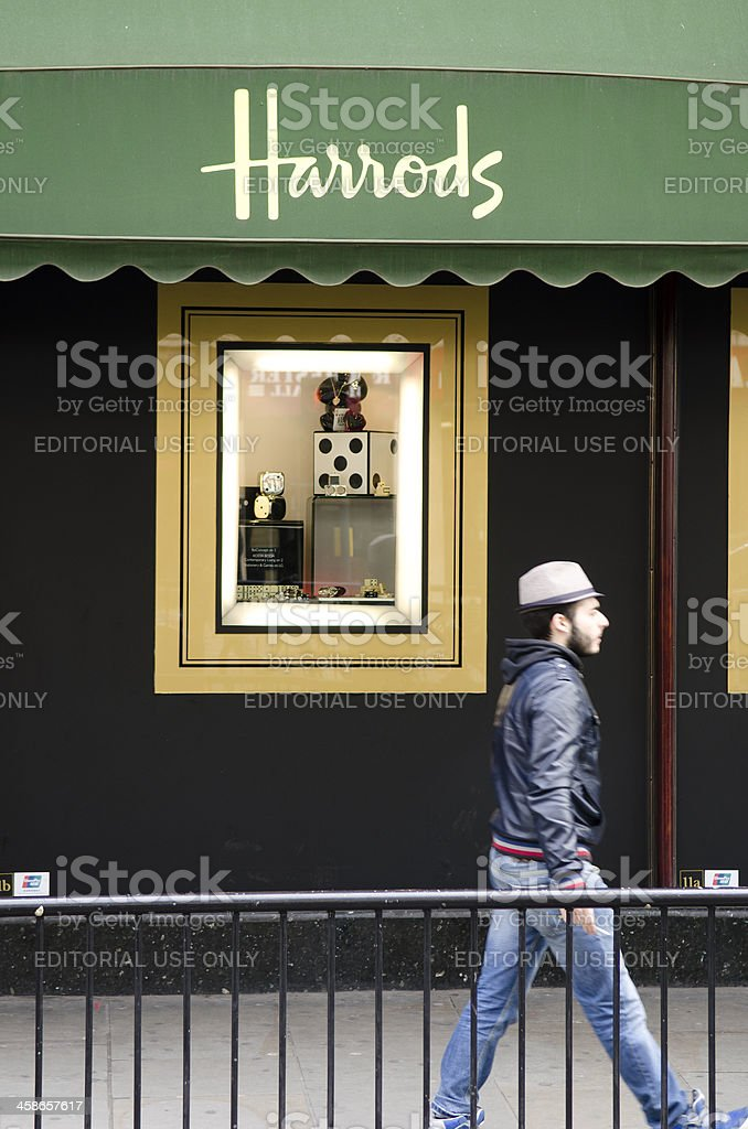 Harrods department store, London stock photo