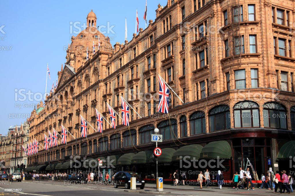 Harrods Department Store stock photo