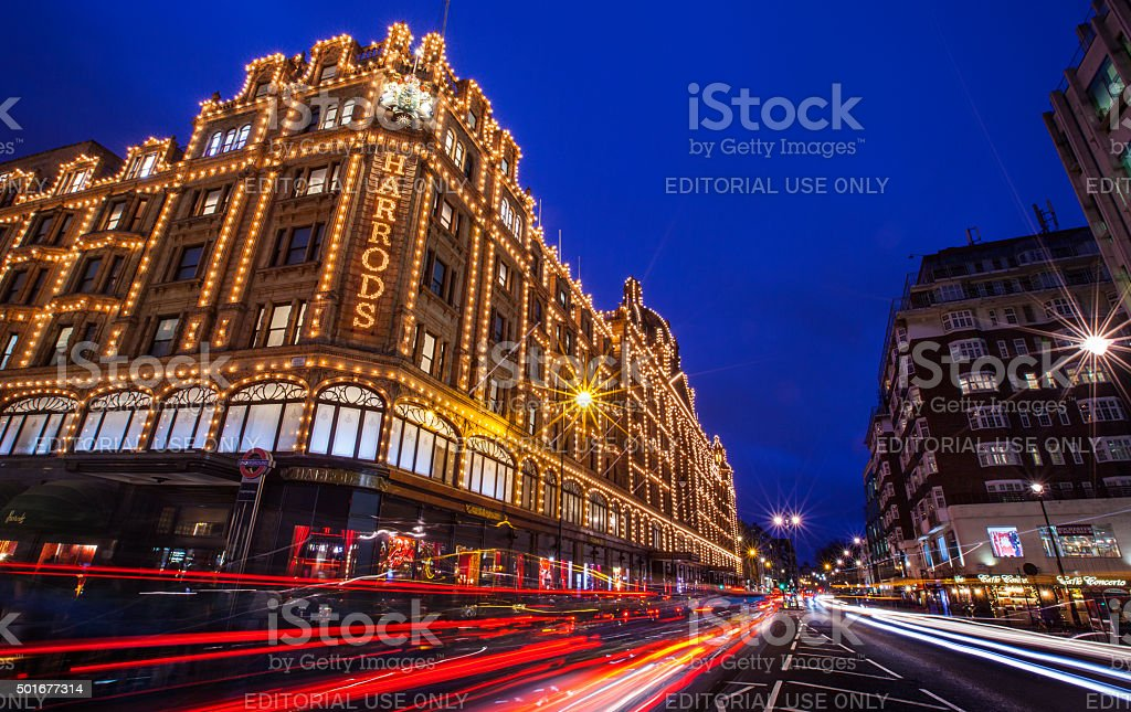 Harrods in London stock photo