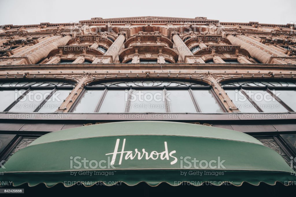 harrods knightsbridge stock photo