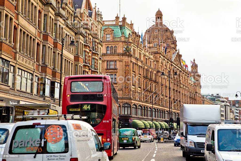 Harrods London Street Scene stock photo