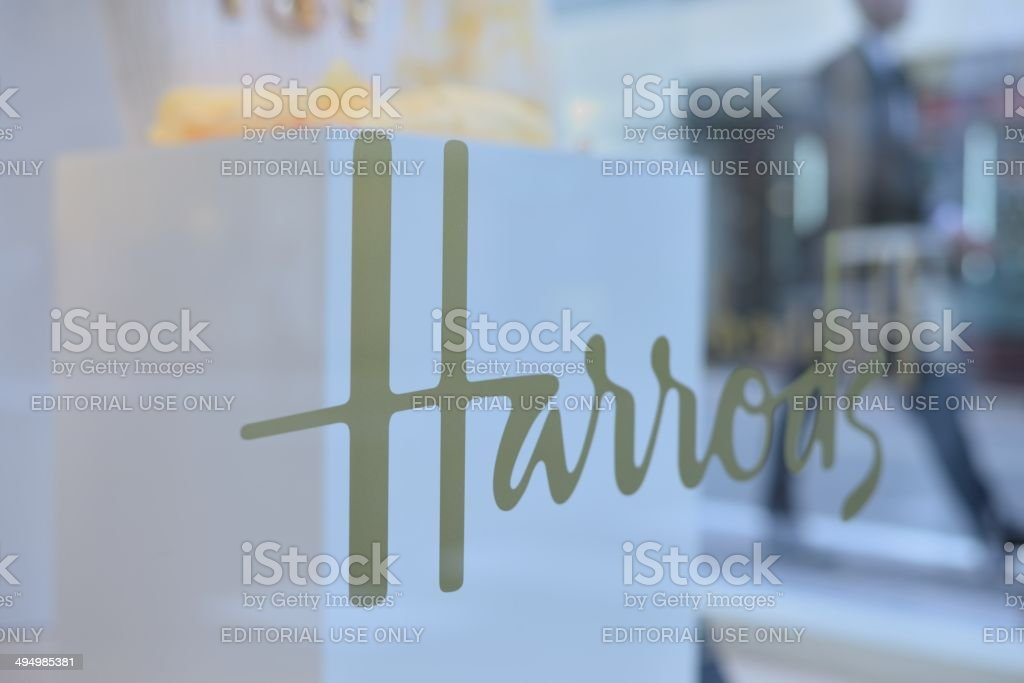 Harrods stock photo