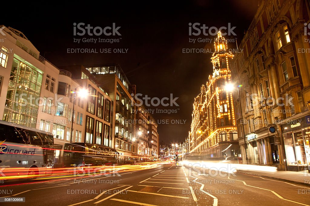 Harrods Store Knightsbridge London stock photo