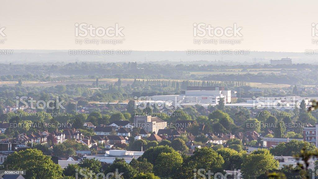 Harrow-on-the-hill Cityscape stock photo