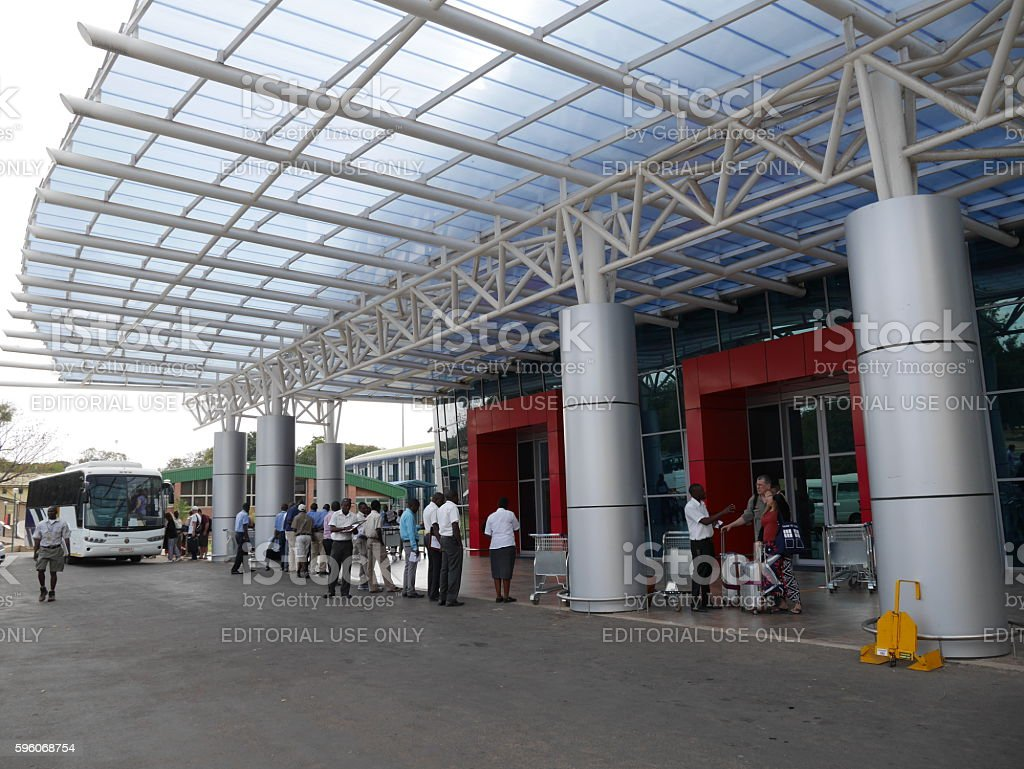 Harry Mwaanga Nkumbula International airport(Livingstone airport) in Zambia royalty-free stock photo