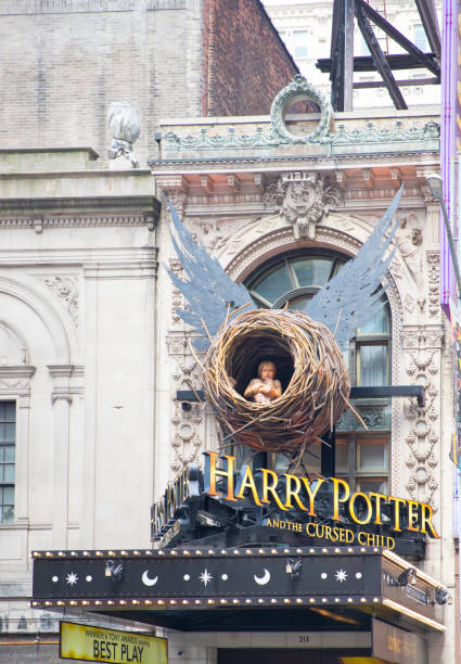 harry potter and the cursed child theater front - cursed stock pictures, royalty-free photos & images