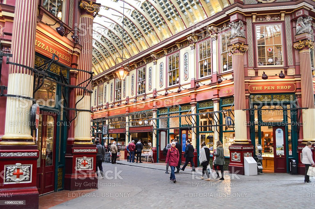 Harry Potter Diagon Alley - Leadenhall Market in London, UK stock photo