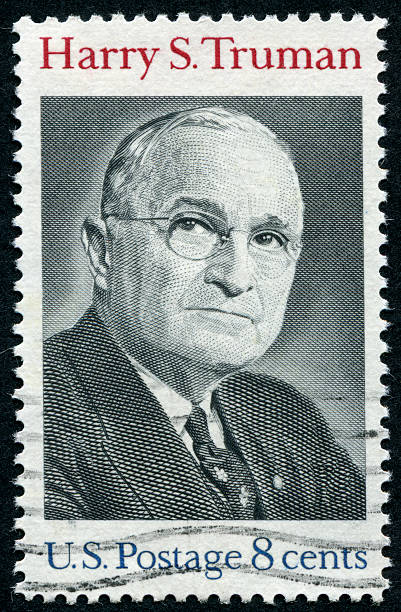 Harry S. Truman Stamp stock photo