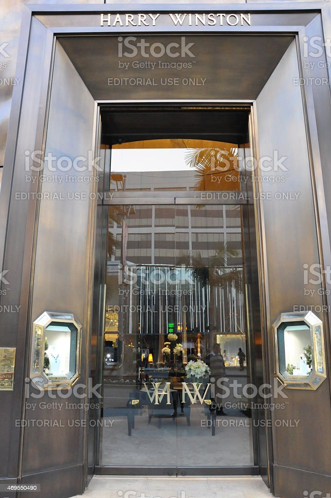 Harry Winston store at Rodeo Drive in Beverly Hills, California stock photo