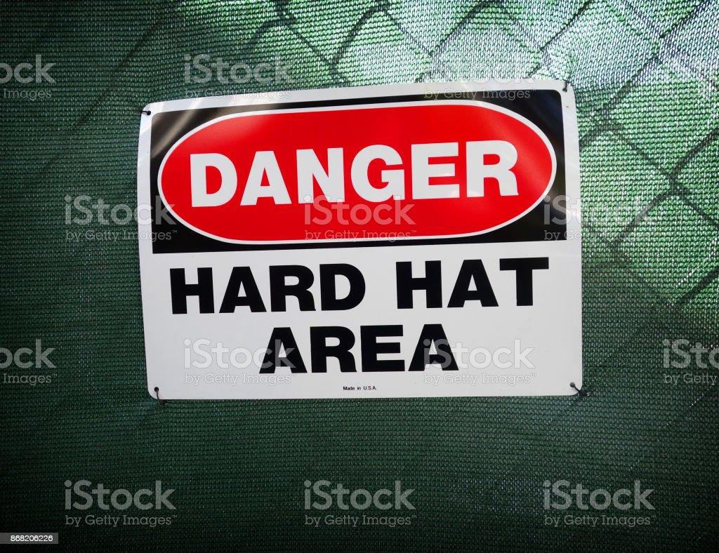 hart hat sign stock photo