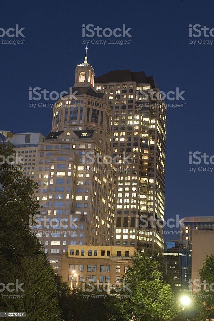 Hartford at Night stock photo